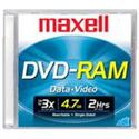 Maxell Dvd-ram Media 5x 4.7gb Jewel Case 1-pk from: USD$5.99