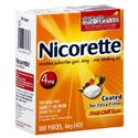 Nicorette Nicotine Gum 4 Mg, Stop Smoking Aid, Fruit Chill - 100 Each from: USD$39.99