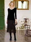 Peruvian Connection Andorra Pima Cotton Lace Skirt from: USD$349.00